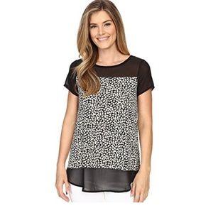 Vince Camuto Women's Short Sleeve Black Size L